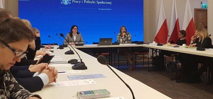 Spotkanie w Ministerstwie Rodziny, Pracy i Polityki Społecznej